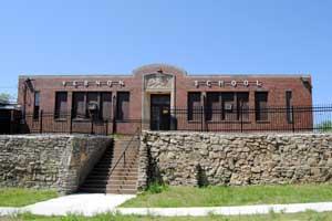 Vernon School in Quindaro, Kansas by Kathy Weiser-Alexander.
