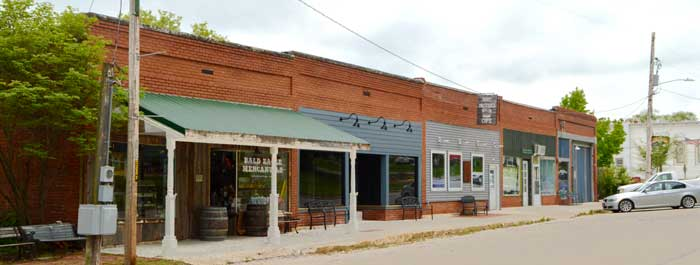 Lecompton, Kansas Business District today by Kathy Weiser-Alexander.
