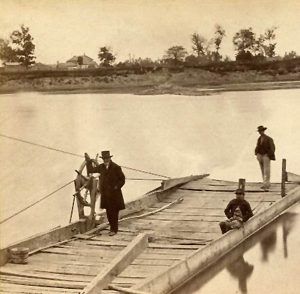 Ferry of the the Kansas river at Lecompton, Kansas by Alexander Gardner, 1867.