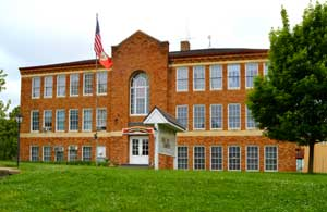 Old Highschool in Lecompton, Kansas by Kathy Weiser-Alexander.