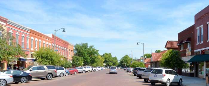 Lindsborg, Kansas Main Street by Kathy Weiser-Alexander.