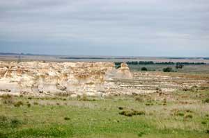 Little Jerasulum Badlands in Northwest Kansas by Dave Alexander.