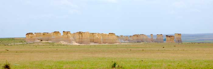 Monument Rocks in Gove County by Kathy Weiser-Alexander.