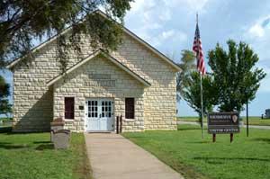 Nicodemus, Kansas Township Hall by Kathy Weiser-Alexander.
