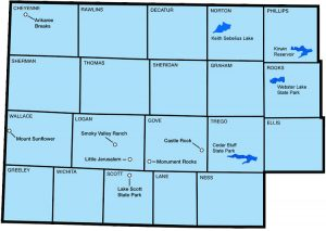 Northwest Kansas Map