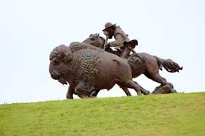 Buffalo Bill Statue in Oakley, Kansas by Kathy Weiser-Alexander.