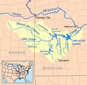 Osage River map courtesy Wikipedia.