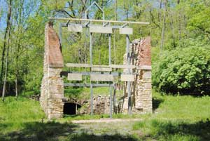 Brewery ruins at Old Quindro, Kansas.