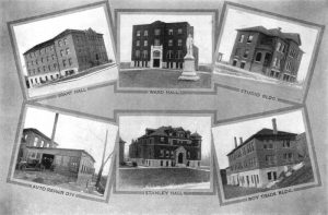 Western University buildings in Quindaro, Kansas in 1920.