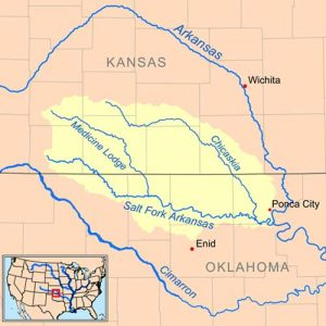 Salt Fork of the Arkansas River Map, courtesy Wickipedia