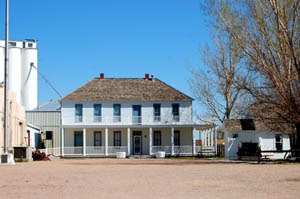 The old Hotel Edwards that was moved from Old Ulysses is now part of the Grant County Museum in New Ulysses by Kathy Weiser-Alexander.