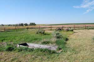 Wagon Bed Spring Wagon Box in Grant County, Kansas by Kathy Weiser-Alexander.