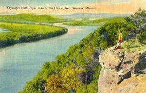 Osage River near Warsaw, Missouri before Truman Dam was created.