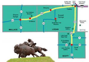 Western Vistas Historic Byway, Kansas Map