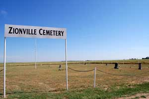 Zionville Cemetery in Grant County, Kansas by Kathy Weiser-Alexander.