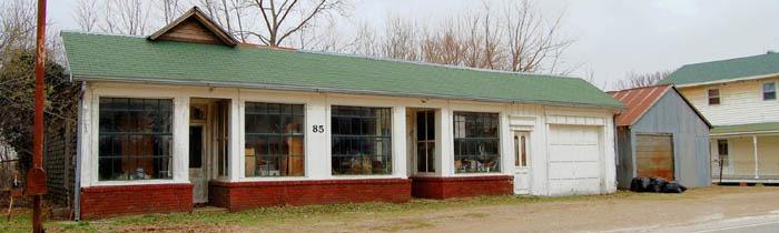 Big Springs, Kansas Business District by Kathy Weiser-Alexander.