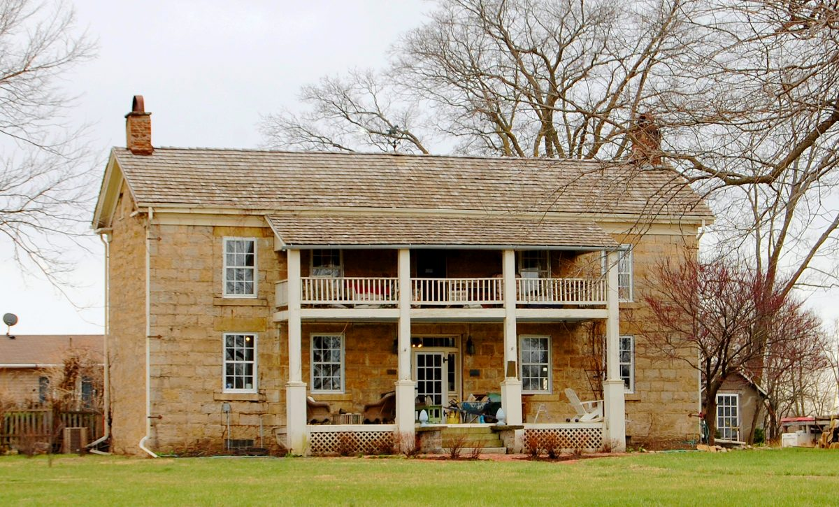 Native Stone building near Big Springs, Kansas by Kathy Weiser-Alexander.