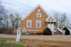 Methodist Church in Big Springs, Kansas by Kathy Weiser-Alexander.