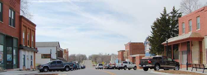 Eudora, Kansas Main Street by Kathy Weiser-Alexander.