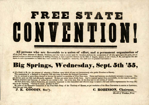 Free State convention, Big Springs, Kansas