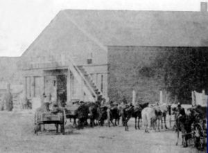 Hays Frame Store in Council Grove, 1868.