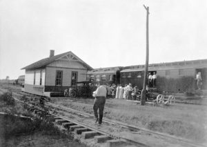 Kansas Central Railway depot in Larkinburg, Kansas