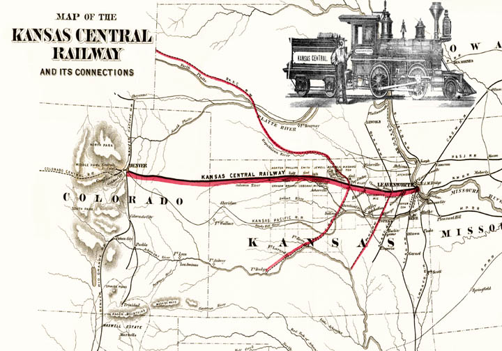 Kansas Central Railway Map