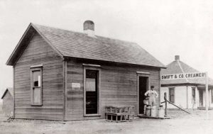 Swift & Company Creamery in Latimer, Kansas, 1911.