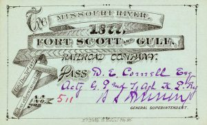 Missouri River, Fort Scott & Gulf Railroad Stock Certificate