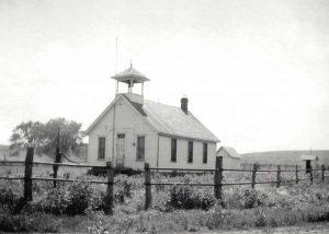 The old Miser Grade School once stood south of Diamond Springs, Kansas.