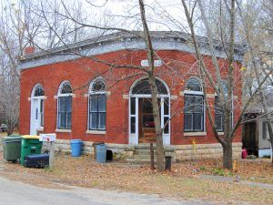 The old bank in Parkerville, Kansas is long closed by Kathy Weiser-Alexander.