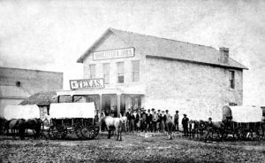 Shamleffer and C.N. James Trading Post, Council Grove, Kansas.
