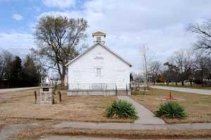 Old Baxter School in White City, Kansas by Kathy Weiser-Alexander.