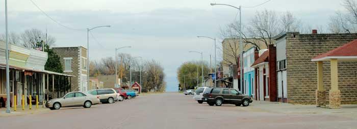 White City, Kansas Main Street by Kathy Weiser-Alexander.