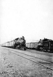 Atchison, Topeka, & Santa Fe trains in Barton County, Kansas.