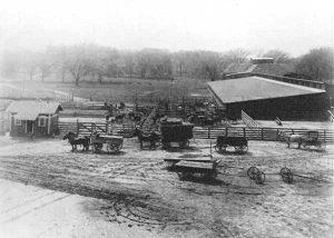Corrals at Bismarck Grove, Kansas today.