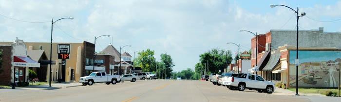 Bucklin, Kansas Main Street by Kathy Weiser-Alexander.