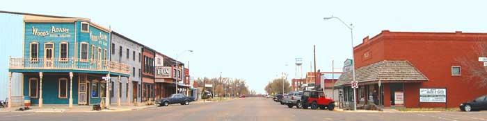Claflin, Kansas Main Street by Kathy Weiser-Alexander.