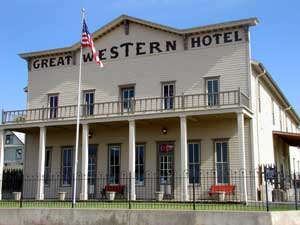 Great Western Hotel in Dodge City, Kansas by Kathy Weiser-Alexander.