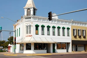 Ellinwood, Kansas business buildings by Kathy Weiser-Alexander.