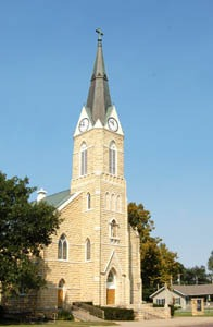St. Joseph Catholic Church in Ellinwood, Kansas by Kathy Weiser-Alexander.