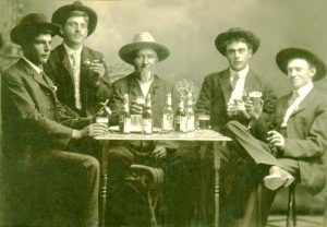 Men drinking beer in Ellinwood, Kansas.