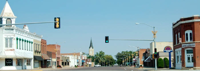 Ellinwood, Kansas Main Street by Kathy Weiser-Alexander