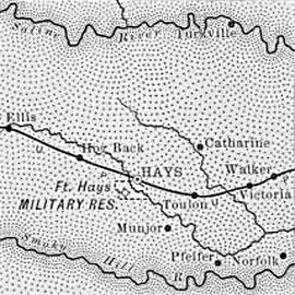 Ellis County Historic Map