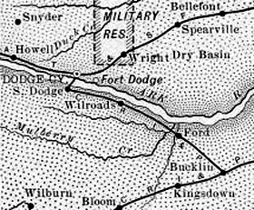 Ford County, Kansas Map 1899
