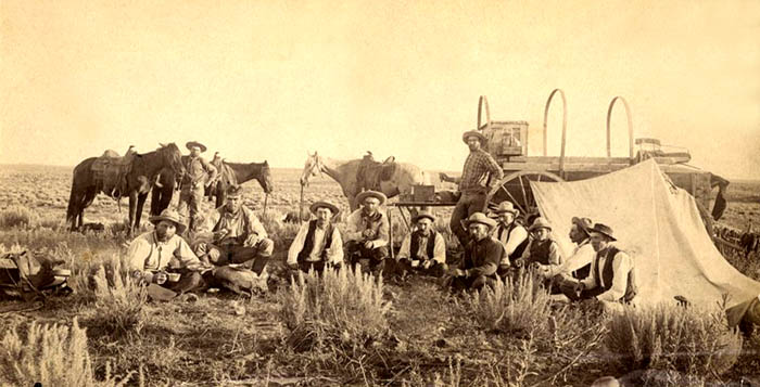 Ford County Cowboys at Chuckwagon, 1884.