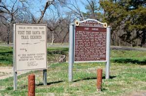 Fort Zarah site in Barton County, Kansas.