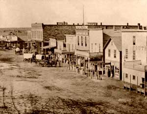 Great Bend, Kansas in the 1870s.