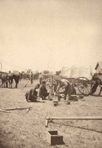 Emigrant Camp near Pawnee Rock, Kansas.
