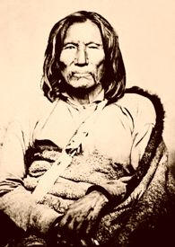 Kiowa warrior Setangya, aka: Satank, Sitting Bear, by William S. Soule